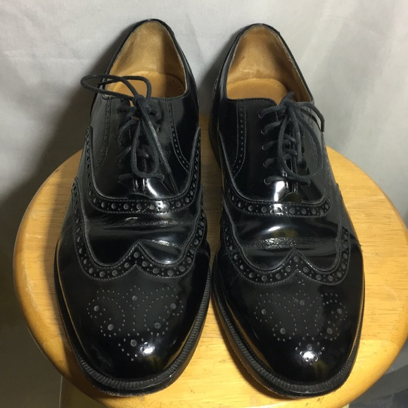 Cole Haan Black Leather Wing Tip Dress